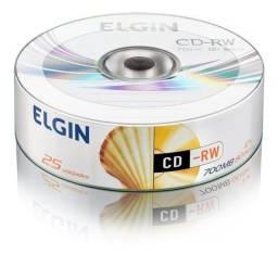 Título do anúncio: Cdrw  700 MB 25 unidades Elgin