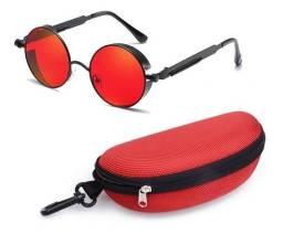 Óculos Round Steampunk Unisex
