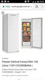 Freezer vertical consul 142L
