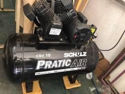 Compressor novo schuiz 100litros modelo csv 10