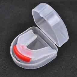 Protetor Bucal duplo c/respirador e estojo de brinde NOVO