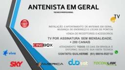 Antenista, tecnico instalador de antenas em geral Brasilia e Entorno todos os dias