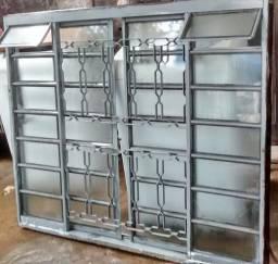 Janela vitro ferro e vidro 1,20x1,50