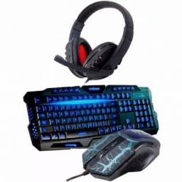 Kit Game Teclado Mouse Usb Led + headfone
