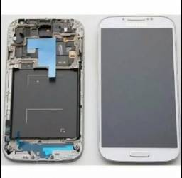 Frontal Touch+lcd Samsung S4 Mini Gt-i9192 + Bateria - Branca Original