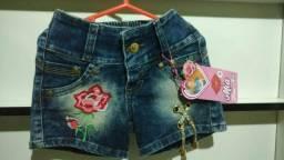 Bermuda jeans com laycra