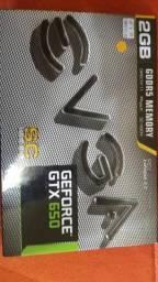 Vendo placa de video gtx 650 2gb superclocked