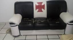 Sofa 2 e 3 lugares courino e espumas