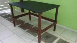 Bancada (mesa) para Trabalho - Fabricada com Maçaranduba