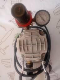 Compressor para Aerografia + aerógrafo sw776