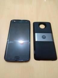Moto Z2 Play 64GB + Moto Snap Power Pack & TV Digital + 3 meses Garantia Tela (Usado)