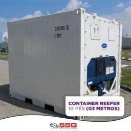 Locação Mensal Contêiner refrigerado câmara fria 10 pés 03 metros usado inox