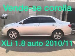 Corolla XLi 1.8 auto flex 2010/11 - 2010