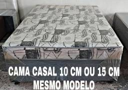 OFERTA CAMA BOX CASAL 10 CM ESPUMA CONFORTAVEL DIRETO DA FABRICA