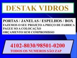 Vidraçaria Box Portas e Janelas A Pronta Entrega 4102-8030 / *