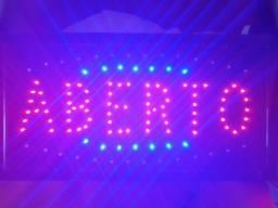 Placa Led Aberto