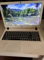 Notbook Acer branco e preto