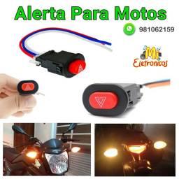 Alerta Para Motos - Botão Com Três Fios, Faz a Função de Alerta Para Motos.