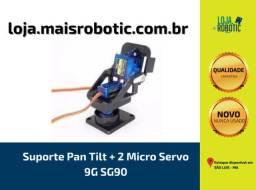 Suporte Pan Tilt + 2 Micro Servo 9G SG90