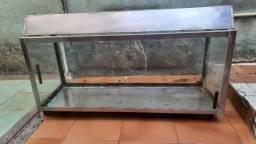Vendo Aquário estrutura de Aço Inox usado