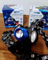 Lanterna Cabeça Camping Pesca 2 em 1 Led Bike Bivolt