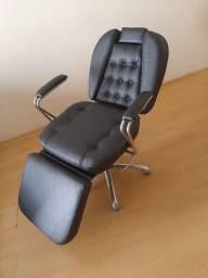 Cadeira Hidraulica Preta - Maquiadora / Micropigmentadora