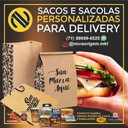 Sacos para delivery e caixas boxes para hamburgerias e delivery