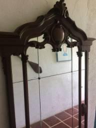 Espelho de chão do início do século 20 em madeira de lei