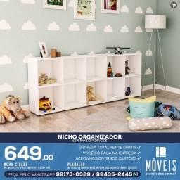 Nicho Organizador / estante 100% em MDF c/ modelos a partir de R$ 204,00 reais