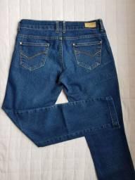 Linda Calça Jeans Feminina slim cintura baixa stretch ZARA- Tam 38