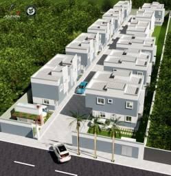 Casas novas 2 quartos em condomínio fechado no Pacheco-Caucaia