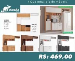 Armário de Cozinha com prateleira de vista armário de cozinha 1