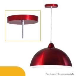 Pendente Vermelho Rubi Em Alumínio E Metal