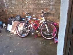 Vendo bicicleta full raynbow com suspensao