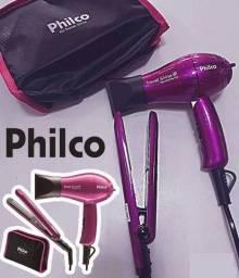 Kit Travel Shine Bivolt Secador + Prancha - Philco