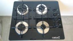 Cooktop fogão 4 bocas vidro Cata