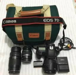 Canon 7D+ 3 lente + 3baterias
