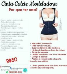 Cinta modeladora em Colete melhora postura e modela corpo