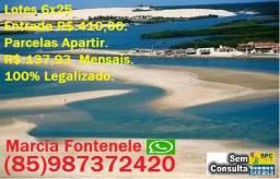 Seu Terreno 5 min Praia Entrada 410,00 e Parcelas Apartir 137,93. S/Consulta Spc e Serasa
