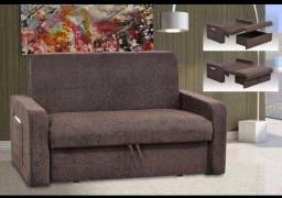 Sofá-cama Casal Matrix Daiane com Baú ? Promoção Pague na Entrega Solicite
