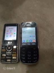 Celulares bons Nokia e LG