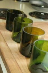 Copos diversos de vidro
