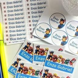 Etiquetas escolares personalizadas. kits a partir de 15 reais