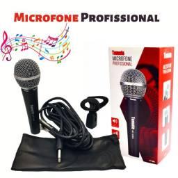 Microfone Profissional Dinâmico Cabo 5m P10 Mt-1005