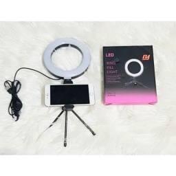 Ring Light com suporte pra celular