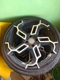 Troco pneu zerado aro 18 por 16