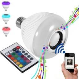 Lampada Musical Bluetooth Led Rgb Branco Caixa Som