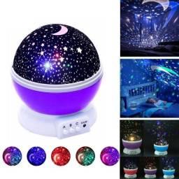 Luminária Fantástica Projetor De Estrelas Abajur Giratória