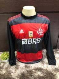 Camisa Flamengo Manga Longa