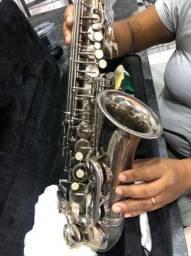 Saxofone alto shelter com estojo